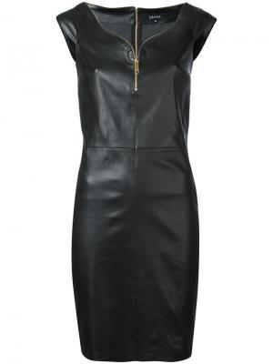 Платье мини на молнии Jitrois. Цвет: чёрный