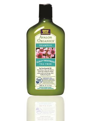 Шампунь с маслом чайного дерева,325 мл Avalon Organics. Цвет: прозрачный