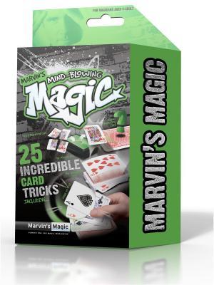 Набор  из 25 фокусов Невероятные карточные трюки от Marvins Magic. Цвет: зеленый, черный
