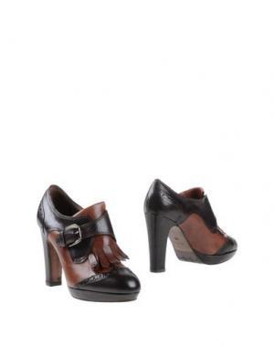 Ботинки PROGETTO. Цвет: темно-коричневый
