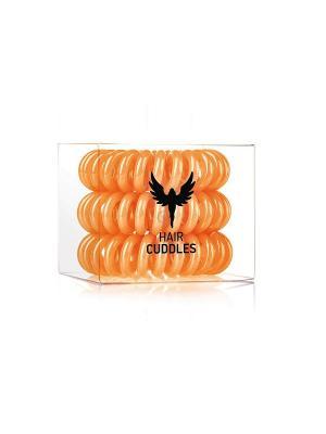 Резинка для волос Hair Cuddles HH Simonsen оранжевая (3 шт.). Цвет: оранжевый