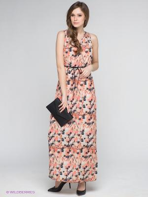 Сарафан Vero moda. Цвет: коралловый, персиковый, темно-синий