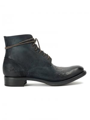 Ботинки на шнуровке Cherevichkiotvichki. Цвет: синий