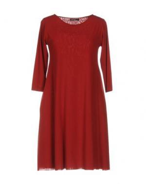 Короткое платье ALMERIA. Цвет: кирпично-красный