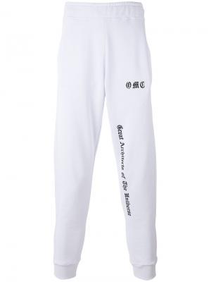 Спортивные брюки с логотипом Omc. Цвет: белый