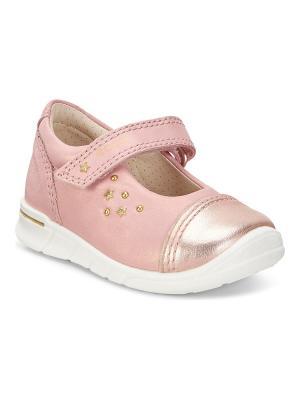Туфли ECCO. Цвет: розовый