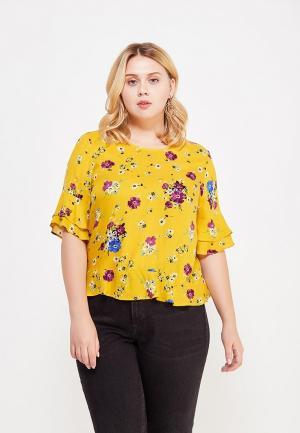 Блуза Violeta by Mango. Цвет: желтый