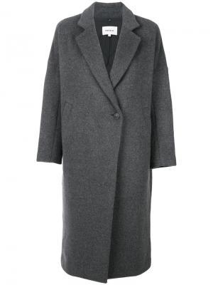 Свободное пальто Enföld. Цвет: серый