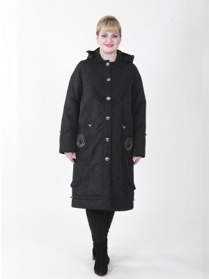 Пальто Джес VIKO. Цвет: черный