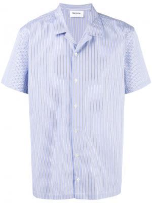 Полосатая рубашка с короткими рукавами Harmony Paris. Цвет: синий