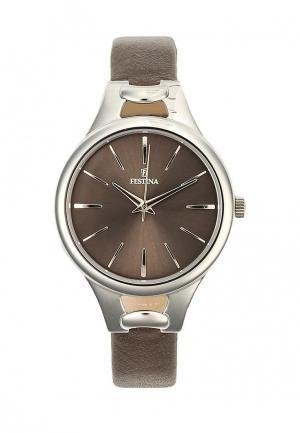 Часы Festina. Цвет: коричневый