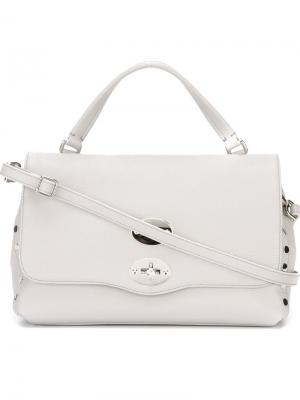 Маленькая сумка-тоут Zanellato. Цвет: серый