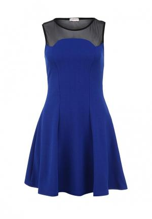 Платье Girlondon. Цвет: синий