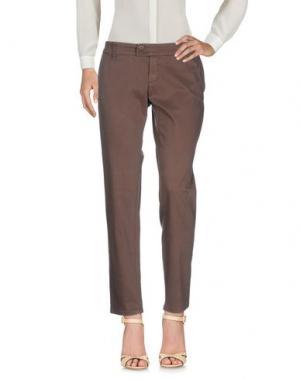 Повседневные брюки DUCK FARM. Цвет: темно-коричневый