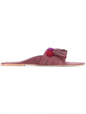 Сандалии с вышивкой Figue. Цвет: розовый и фиолетовый
