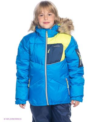 Куртка HUPPA. Цвет: синий, салатовый, темно-синий