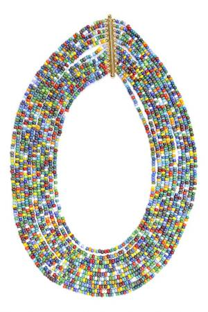 Бусы Сказка каскад Divetro. Цвет: зеленый, голубой, желтый