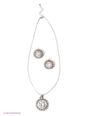 Комплект бижутерии Lovely Jewelry. Цвет: серебристый