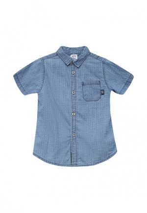 Рубашка джинсовая Chicco. Цвет: синий