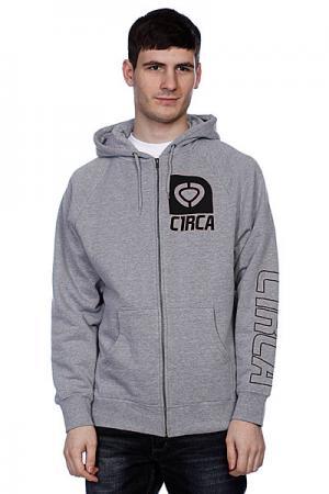 Толстовка классическая  Insignia Zip Fleece Athletic Heather Circa. Цвет: серый
