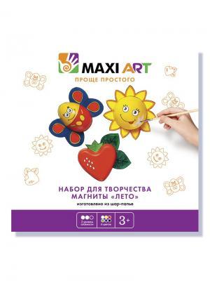 Набор для Творчества. Магниты Лето MAXITOYS. Цвет: белый, черный, синий, зеленый, красный, желтый