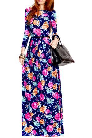 Платье FRANCESCA LUCINI. Цвет: розовый, оранжевый, роза