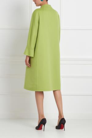 Шерстяное пальто Chapurin. Цвет: зеленый