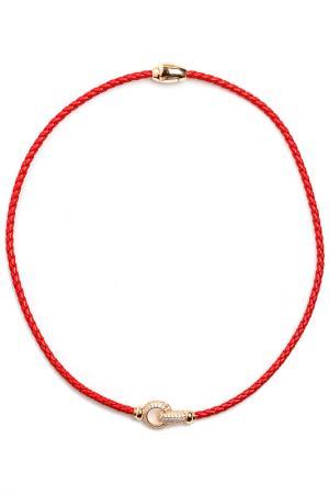 Чокер-браслет Beatrici Lux. Цвет: красный
