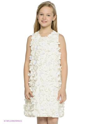 Платье MES AMI. Цвет: кремовый