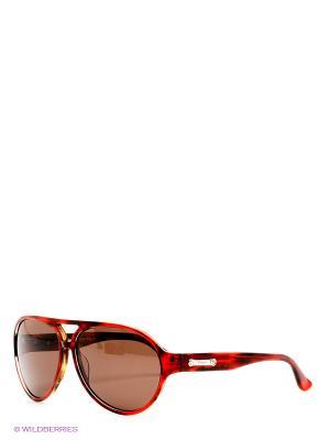 Солнцезащитные очки Salvatore Ferragamo. Цвет: красный