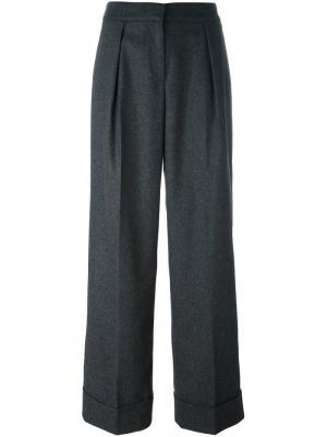 Широкие брюки со складками IM Isola Marras I'M. Цвет: серый