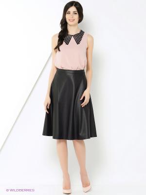 Блузка Samirini. Цвет: бледно-розовый, черный