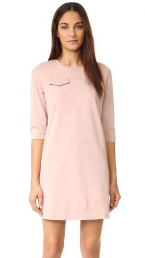 Платье-трапеция ST Olcay Gulsen. Цвет: розовый