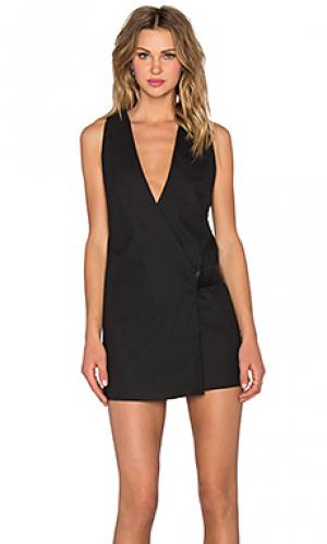 Платье viper wrap dress PFEIFFER. Цвет: черный