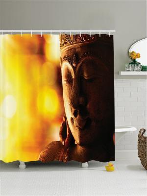 Штора для ванной Magic Lady. Цвет: светло-коричневый, желтый, оранжевый