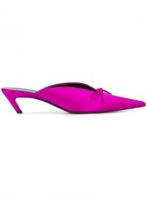 Мюли с открытой пяткой Balenciaga. Цвет: розовый и фиолетовый