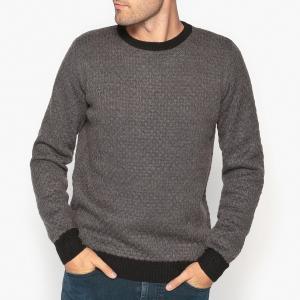 Пуловер с круглым вырезом из оригинального трикотажа La Redoute Collections. Цвет: антрацит,сливовый