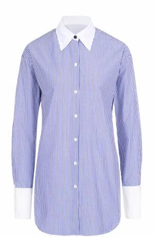 Блуза свободного кроя в контрастную полоску Rag&Bone. Цвет: синий