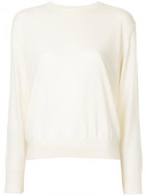 Пуловер с круглым вырезом Astraet. Цвет: белый