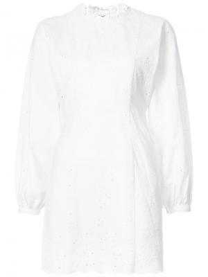 Платье с английской вышивкой Ulla Johnson. Цвет: белый