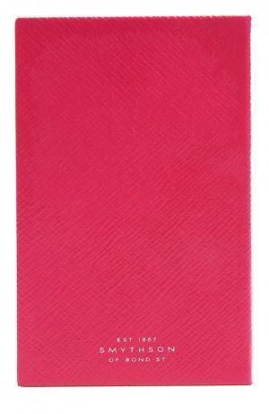 Записная книжка Smythson. Цвет: фуксия