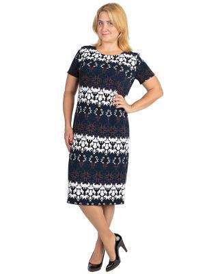 Платье Alego. Цвет: черный, синий, белый