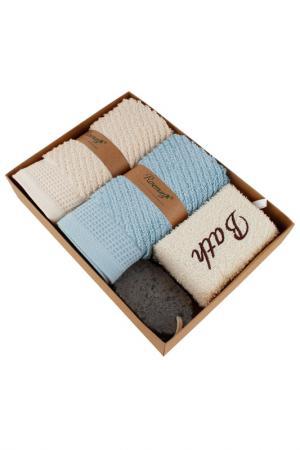 Набор банных аксессуаров Patricia. Цвет: бежевый, голубой
