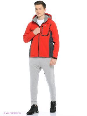 Куртка SOFTSHELL Trespass. Цвет: красный