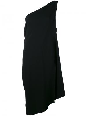 Асимметричное платье на одно плечо Issey Miyake. Цвет: чёрный