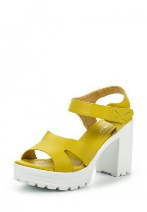 Босоножки Wilmar. Цвет: желтый