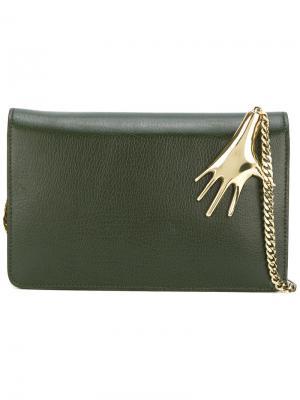 Metallic-embellished bag Petar Petrov. Цвет: зелёный