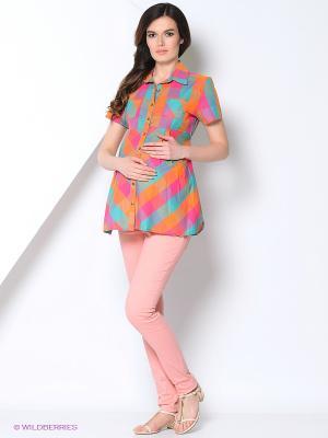 Блузка EUROMAMA. Цвет: оранжевый