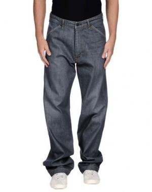 Джинсовые брюки SURFACE TO AIR. Цвет: серый