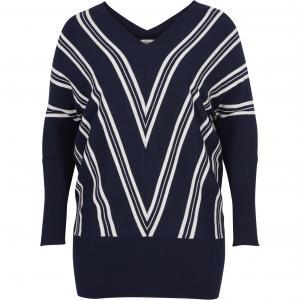Пуловер ZIZZI. Цвет: зеленый,темно-синий